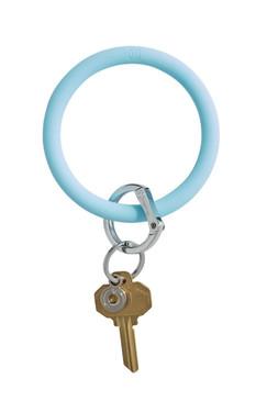 OVenture Silicone Solid Key Ring Carolina Blue