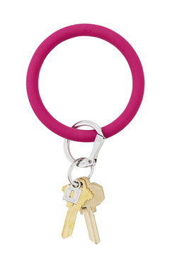 OVenture Silicone Solid Key Ring I Scream Pink