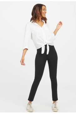 Spanx The Perfect Black Pant Ankle 4 Pocket Ponte