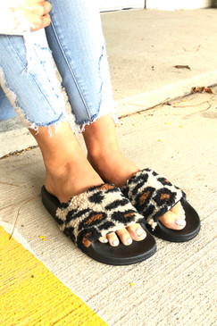 Leopard Teddy Slides