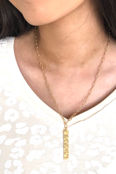 Virtue Gold Bar Necklace