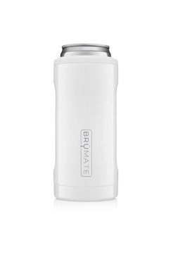 BruMate Hopsulator Slim Ice White 12 oz Slim Cans