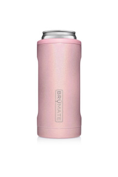 BruMate Hopsulator Slim Glitter Blush 12 oz Slim Cans