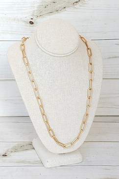 Virtue XL Long Paperclip Gold Necklace