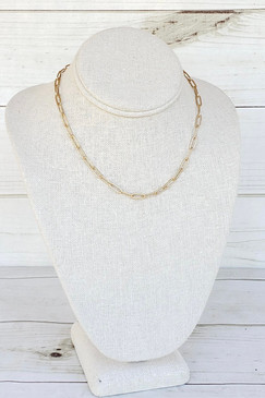 Virtue Large Paperclip Gold Necklace