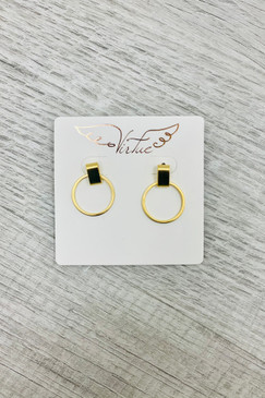Virtue Small Circle Clip Gold Earrings