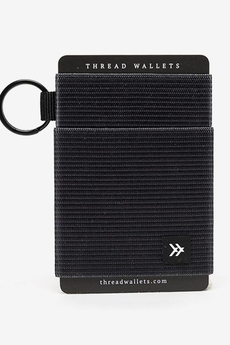 Thread Black Elastic Card Holder