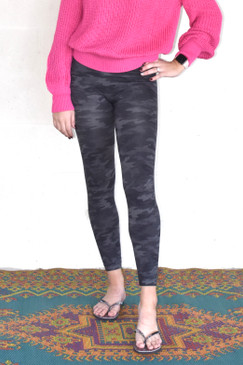 SPANX Look At Me Now Seamless Leggings in Heathered Grey Camo