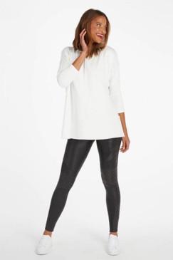 Spanx Perfect Length Top Dolman Sweatshirt Powder