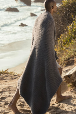 Barefoot Dreams CozyChic® Ribbed Throw Charcoal