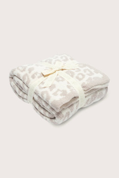 Barefoot Dreams CozyChic® Barefoot in the Wild® Throw Cream Stone