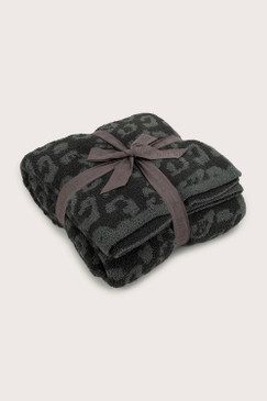 Barefoot Dreams CozyChic® Barefoot in the Wild® Throw Graphite Carbon