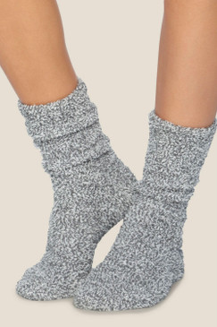 Barefoot Dreams CozyChic® Heathered Women's Socks Graphite White