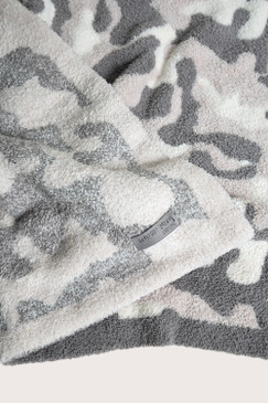 Barefoot Dreams CozyChic® Camo Throw Stone Multi