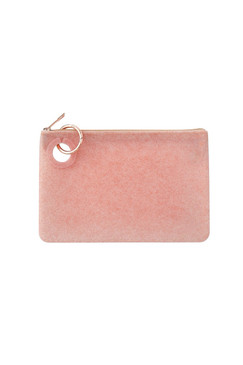 OVenture Large Silicone Rose Gold Confetti Pouch