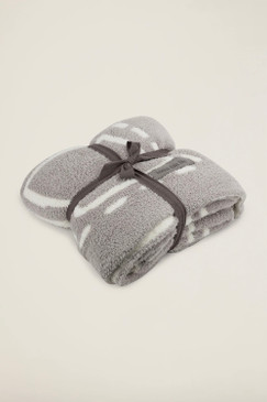 Barefoot Dreams CozyChic® Covered in Prayer® Throw Oyster / Pearl / Bless This Life