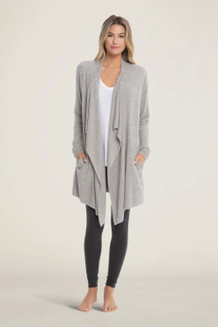 Barefoot Dreams CozyChic Lite® Island Wrap Heathered Pewter Silver