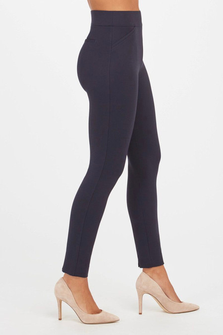 Spanx The Perfect Pant Navy Ankle Backseam Skinny Ponte
