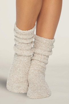 Barefoot Dreams CozyChic® Women's Socks Heathered Oyster White