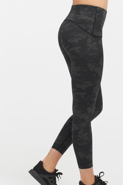 Spanx Booty Boost Active 7/8 Leggings Black Camo