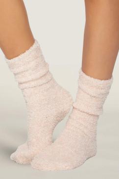 Barefoot Dreams CozyChic® Heathered Women's Socks Dusty Rose