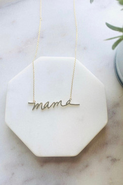PS Mama Necklace Gold