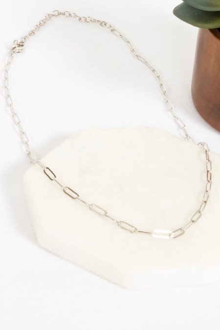 PS Jolie Simple Chain Necklace Silver