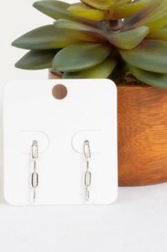 PS Lea Chain Link Drop Earrings Silver