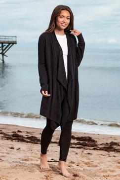 Barefoot Dreams CozyChic Lite® Island Wrap Black