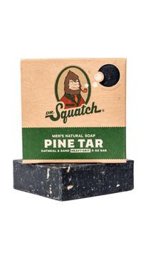Dr Squatch Pine Tar Bar Soap Heavy Grit