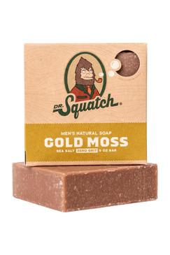 Dr Squatch Gold Moss 5 oz Soap Zero Grit