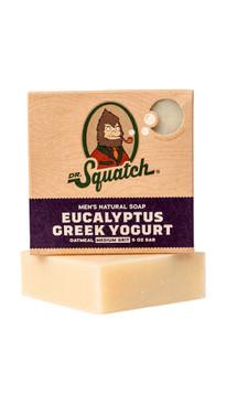 Dr Squatch Eucalyptus Greek Yogurt 5 oz Soap Medium Grit