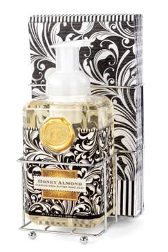 Michel Designs Works Honey Almond Foaming Hand Soap Napkin Set