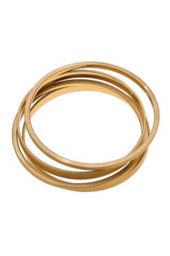 Canvas Cleo Bangle Stack in Satin Gold  Set of 4