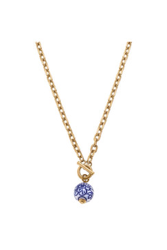 Canvas Marchesa Chinoiserie Necklace in Blue and White