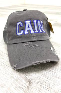 CAIN High School Cap Grey