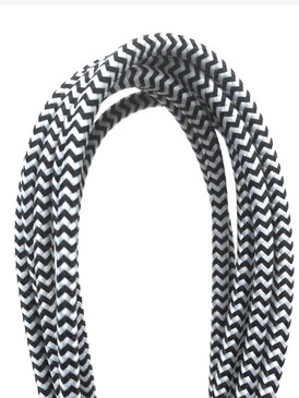 Tech Triple Header Maxi 6' Wooven USB Cable Black & White