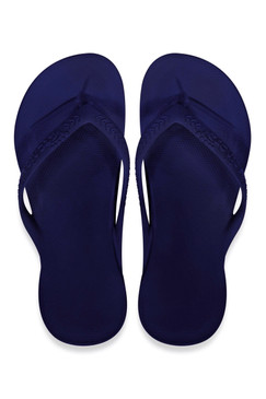 Archies Navy Arch Support Flip Flops