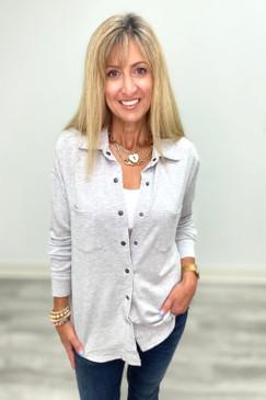 Arianne Z Supply Modal Shirt Jacket Heather Grey