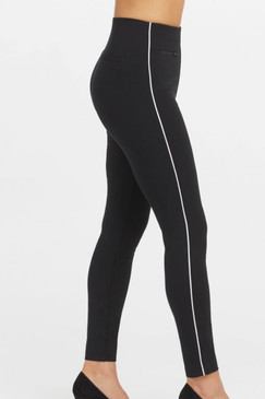 Spanx Perfect The Perfect Pant Ankle Piped Skinny Black