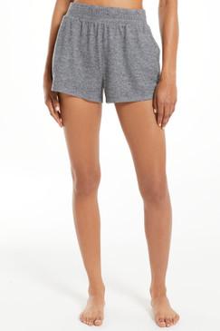 Z Supply Sporty Silky Shorts Heather Black