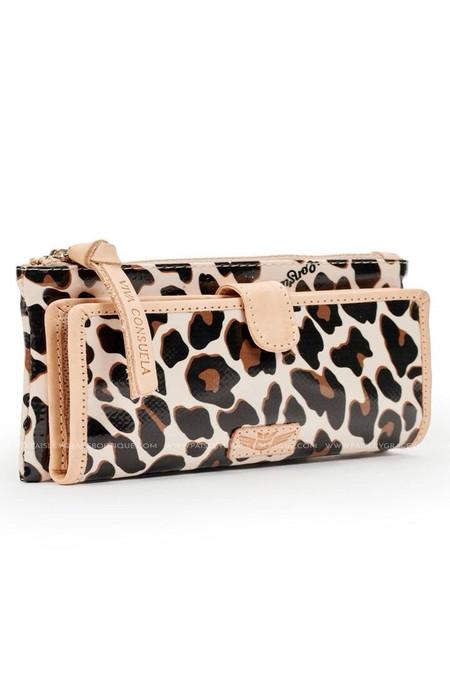 Consuela Slim Wallet Mona Brown Leopard