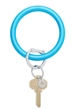 Overture Silicone Big O Key Ring Pearlized Peacock