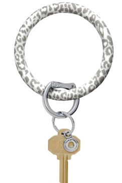 Overture Silicone Big O Key Ring Pearlized Snow Leopard