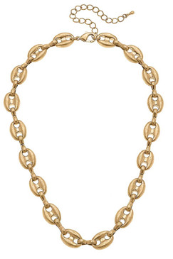 Canvas Blaire Mariner Chain Necklace in Worn Gold