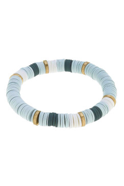 Canvas Emberly Color Block Polymer Clay Bracelet Grey