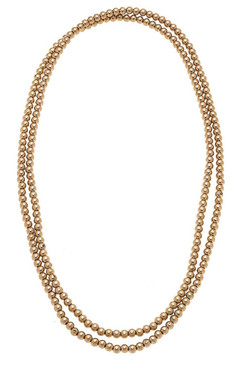 Caterina Endless Sphere Necklace Or Layered Bracelet In Worn Gold 20913N-GD