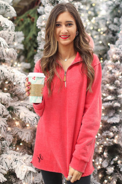 Jess Lea The Miley Vintage Red Pullover