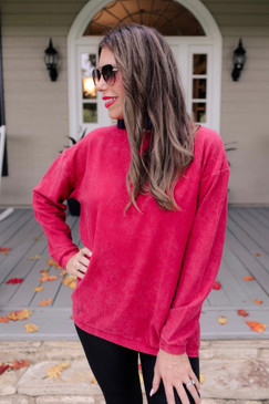 Jess Lea Andy Corded Vintage Pullover Red