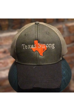 Texas Strong Mesh Trucker Cap 2017  Hurricane Harvey